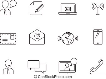 Outline Icons - Communication