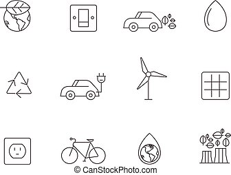 Outline Icons - Environment