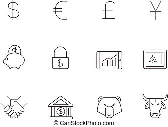 Outline Icons - Finance