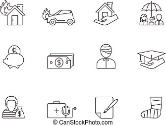 Outline Icons - Insurance