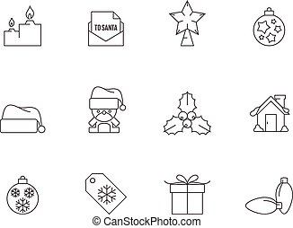 Outline Icons - More Christmas