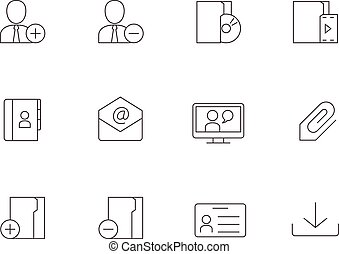 Outline Icons - Group Collaboration