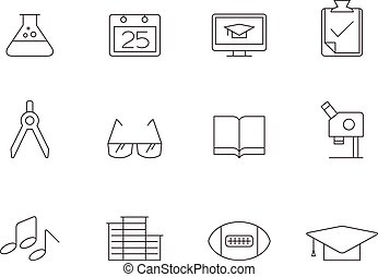 Outline Icons - More School - More school icon series in...