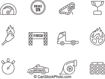 Outline Icons - More Racing