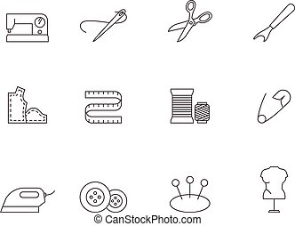 Outline Icons - Sewing