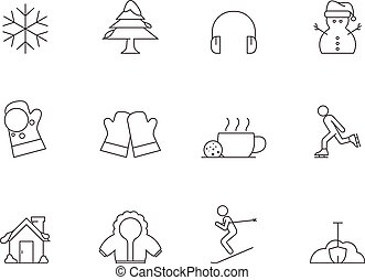 Outline Icons - Winter