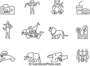 Outline Icons - Zoo