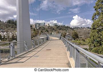 Overpass, peão,  Portland,  Oregon