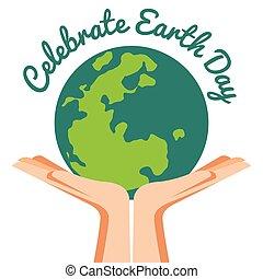 Hand Holding ecology world