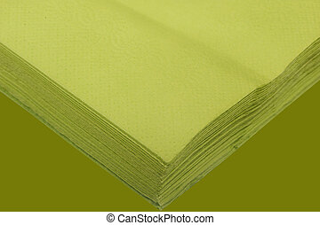 colored paper napkins - a paper napkins on the white...