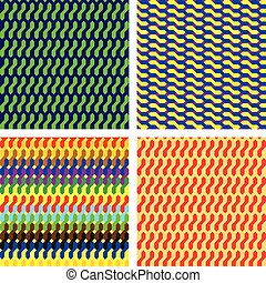 Four different geometric patterns - Illustration with 4...