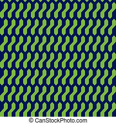 Abstract geometric pattern with blue and green - Seamless...
