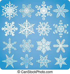 Intricate Snowflake Set - A set of vector snowflakes....