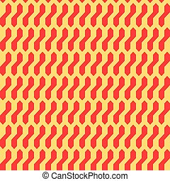 Seamless abstract geometric pattern with red and crem.eps -...