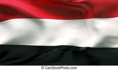 Textured YEMEN cotton flag