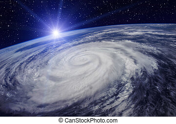 Huge Cyclone Due to the Global Warming - Giant cyclone on...