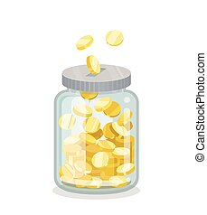Saving flat money jar