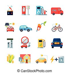 Alternative Energy Icons Set - Alternative energy icons set...