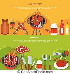 Steak Grill On Barbecue Party - Steak grill on barbecue...