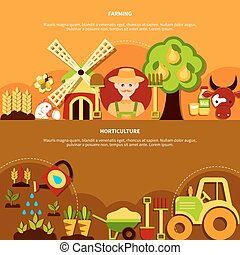 Horticulture Horizontal Banners Collection - Agriculture...