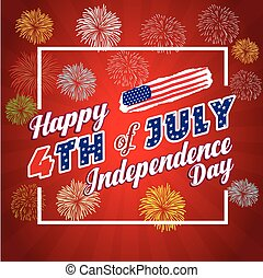 Fireworks background for 4th of July
