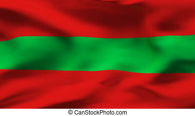 Textured TRANSNISTRIA  cotton flag