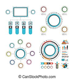 colorful circle infographic set