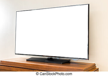Modern television in living room . - Modern television in...