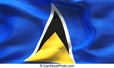 Textured SAINT LUCIA cotton flag - Textured SAINT LUCIA...