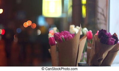 Spring flower night street