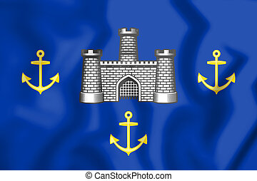 Isle of Wight Council Flag, England. - 3D Isle of Wight...
