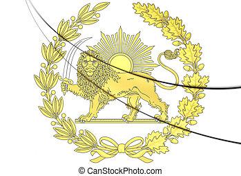 Emblem of Persia. 3D Illustration.