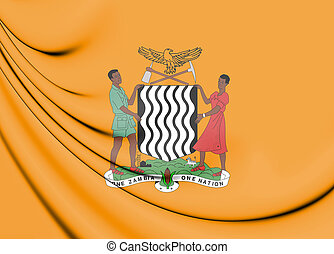 Flag_of_the_President_of_Zambia - President of Zambia 3D...