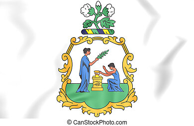 Saint Vincent and the Grenadines coat of arms. 3D...