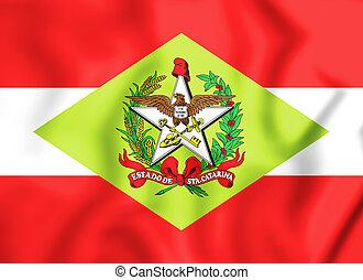 +++Bandeira_de_Santa_Catarina - 3D Flag of Santa Catarina,...