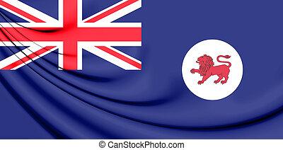 Flag of Tasmania, Australia. 3D Illustration.