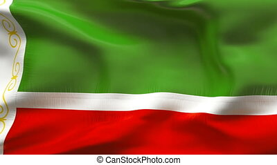 Textured CHECHNYA cotton flag