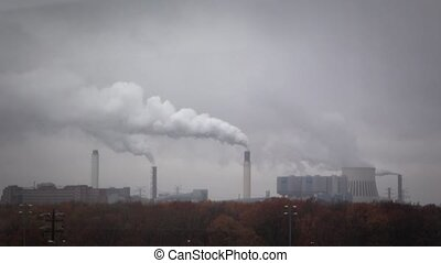 Industrial pollution - Shot of Industrial pollution