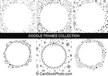 Hand drawn frames collection.