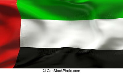 Textured UAE  cotton flag   - Textured UAE  cotton flag