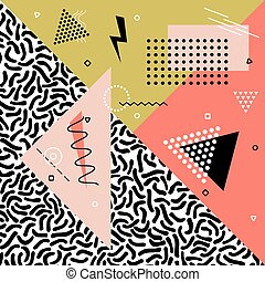 Abstract vector pattern with geometric shapes. Fashion style...