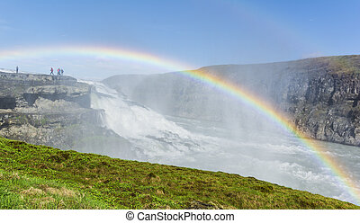 Great Gullfoss waterfall, Iceland - Vew of the great...
