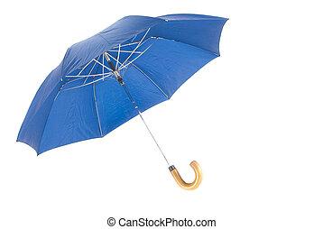 umbrella - A photo of a blue umbrella, isolated on a white...