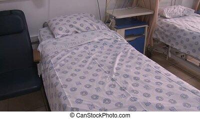 hospital beds - Shot of hospital beds