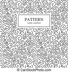 Curly seamless pattern.