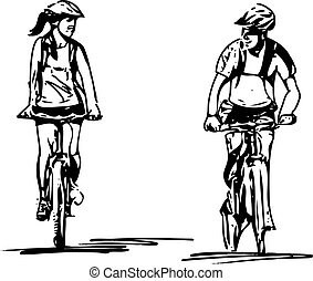 couple taking a ride on a bicicle