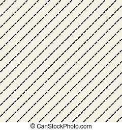 Seamless diagonal lines pattern. Dash vector texture.