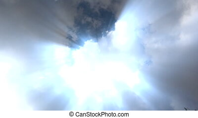 heaven clouds with rays - Shot of heaven clouds with rays
