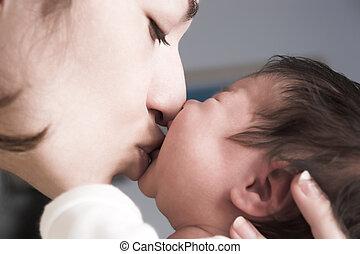 macierz, nowy, urodzony, niemowlę