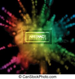 Paint powder smoky explosion. Vector illustration of rainbow...